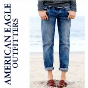 American Eagle Outfitters Boy Fit Crop Jeans 10